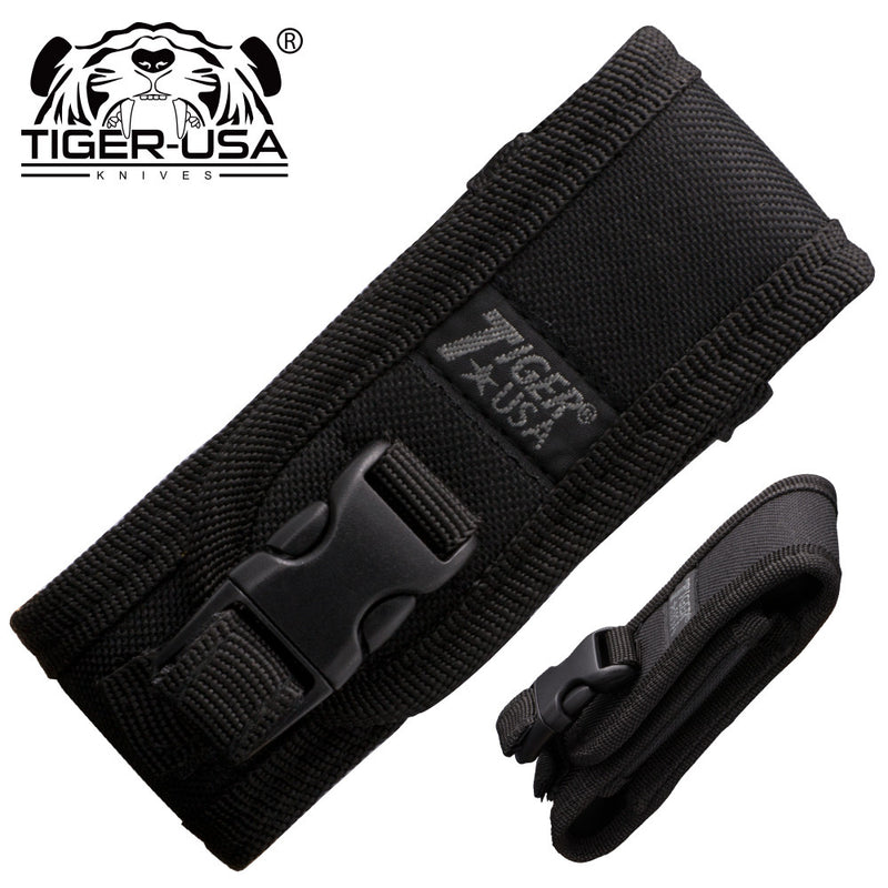 Tiger USA Black Nylon Folding Knife Carrying Case, , Panther Trading Company- Panther Wholesale