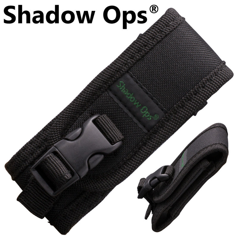 Shadow Ops Black Nylon Folding Knife Carrying Case, , Panther Trading Company- Panther Wholesale