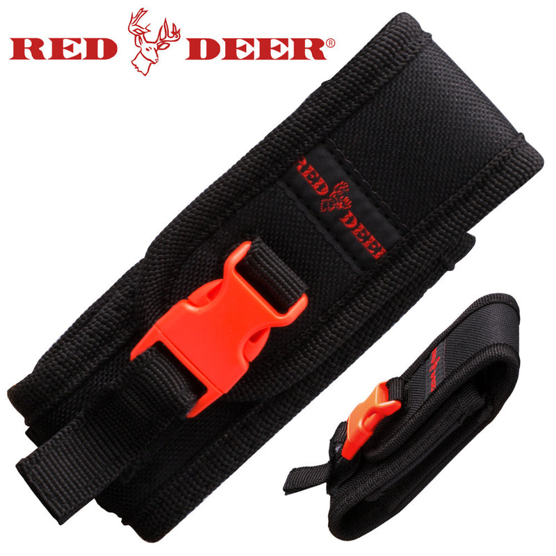 Red Deer Black Nylon Folding Knife Carrying Case, , Panther Trading Company- Panther Wholesale