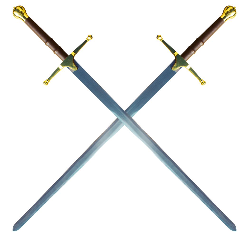 Double William Wallace Sword - Gold, , Panther Wholesale- Panther Wholesale