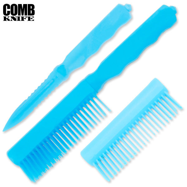 Plastic Comb Knife (Blue), , Panther Trading Company- Panther Wholesale