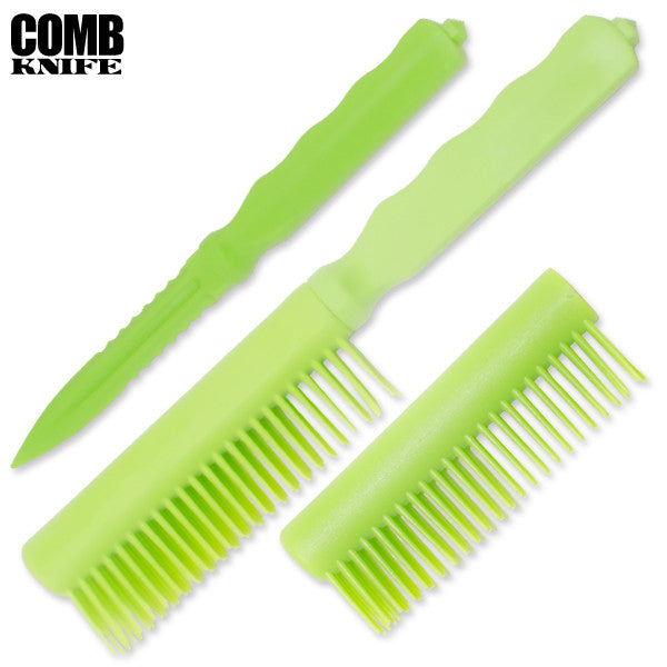 Plastic Comb Knife (Green), , Panther Trading Company- Panther Wholesale
