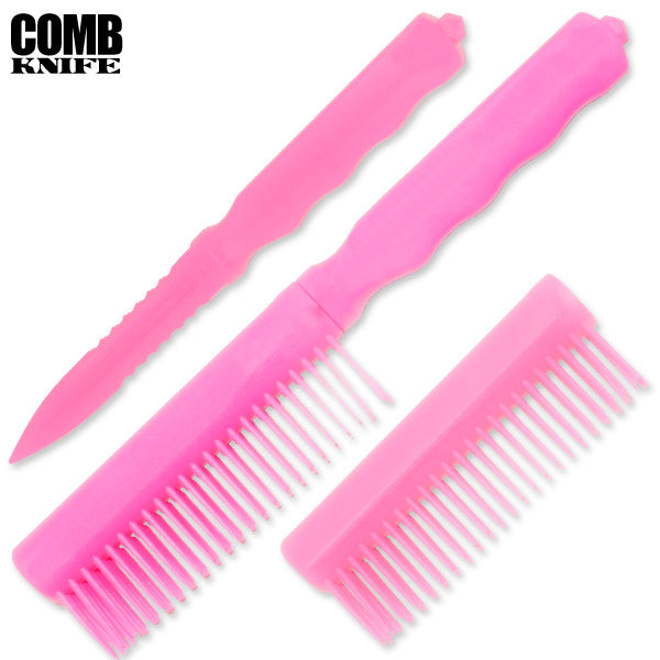 Plastic Comb Knife (Pink), , Panther Trading Company- Panther Wholesale