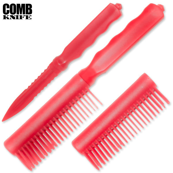 Plastic Comb Knife (Red), , Panther Trading Company- Panther Wholesale