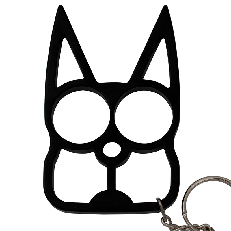 Cat Public Safety Keychain  Black
