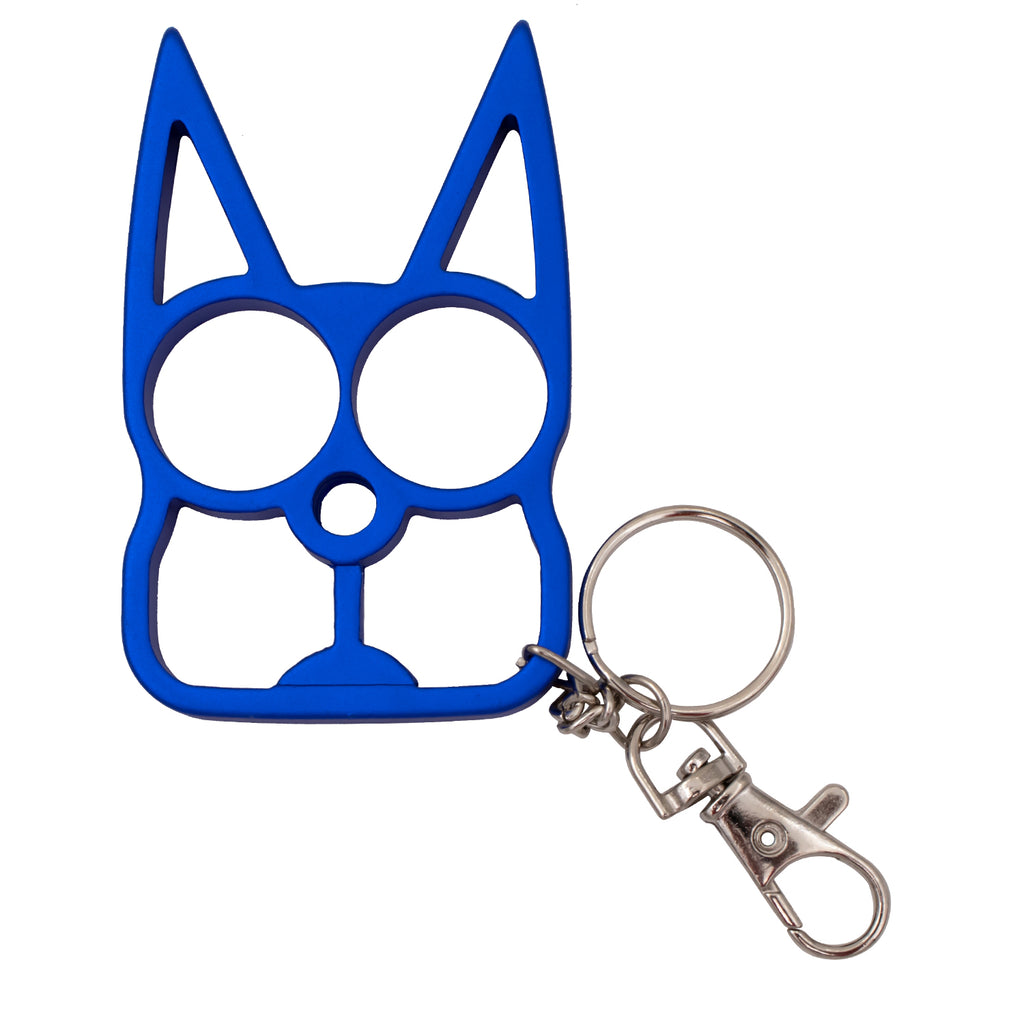 Cat Public Safety Keychain-Royal Blue