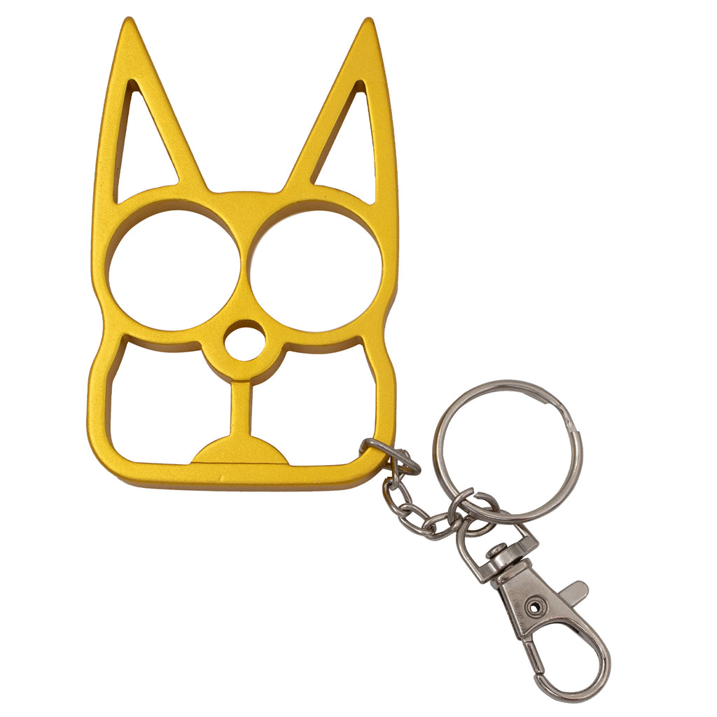 Cat Public Safety Keychain-Gold