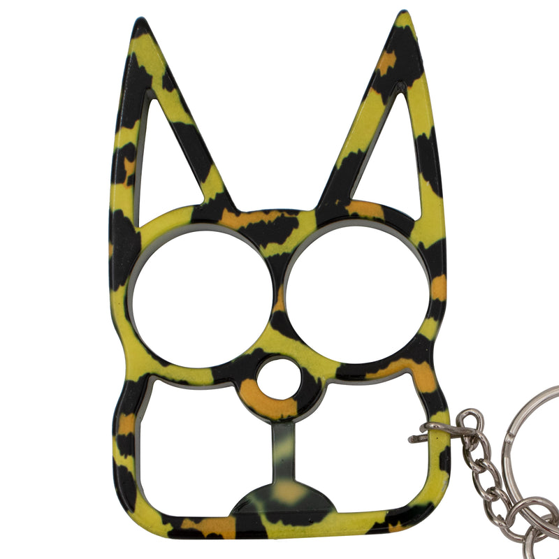 Cat Self Defense Keychain Leopard Print