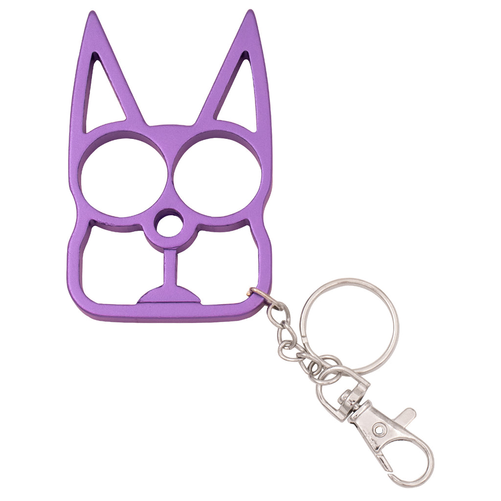 Cat Public Safety Keychain - Light Purple
