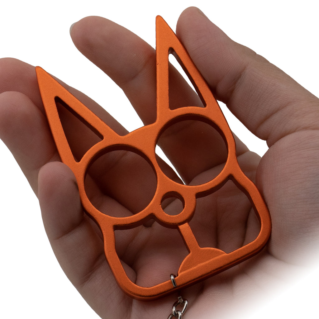 Cat Public Safety Keychain-Orange