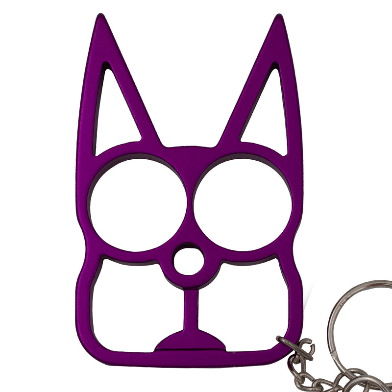 Cat Public Safety Keychain - Purple