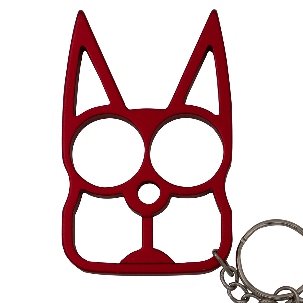 Cat Public Safety Keychain- Red
