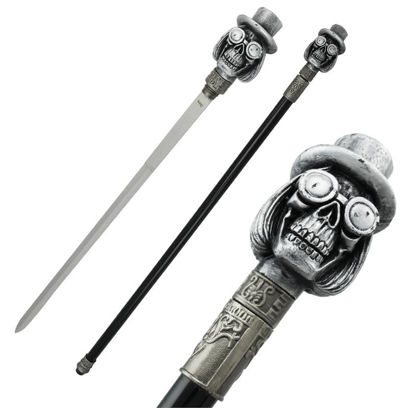 Carnival Skull Steel Cane Hidden Sword