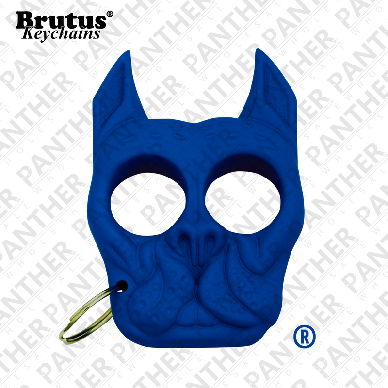 Brutus the Bull Dog - Public Safety Keychain - Blue, , Panther Trading Company- Panther Wholesale
