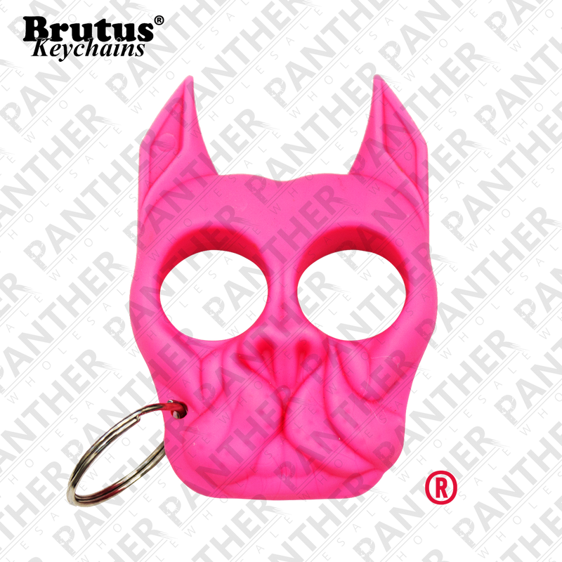 Brutus the Bull Dog - Public Safety Keychain - Hot Pink