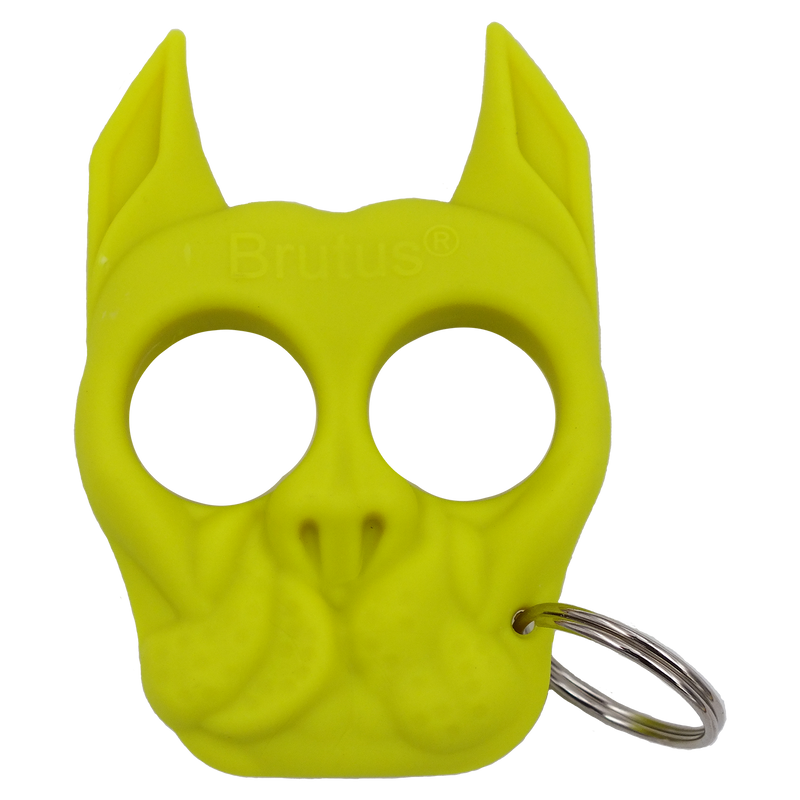 Brutus the Bull Dog - Public Safety Keychain Neon Green
