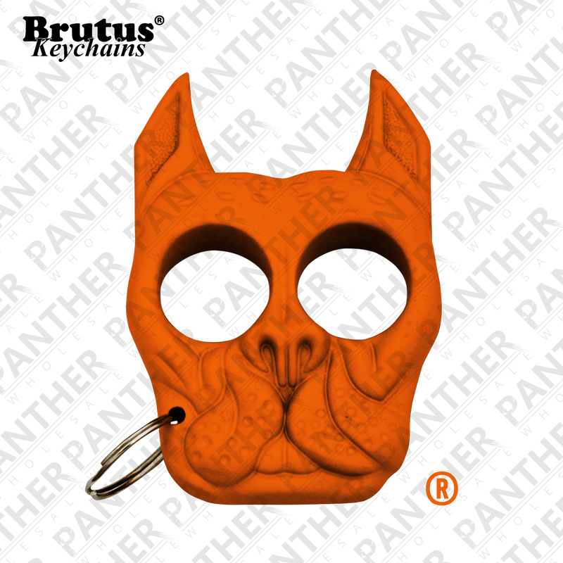 Brutus the Bull Dog - Public Safety Keychain - Orange - Panther Wholesale