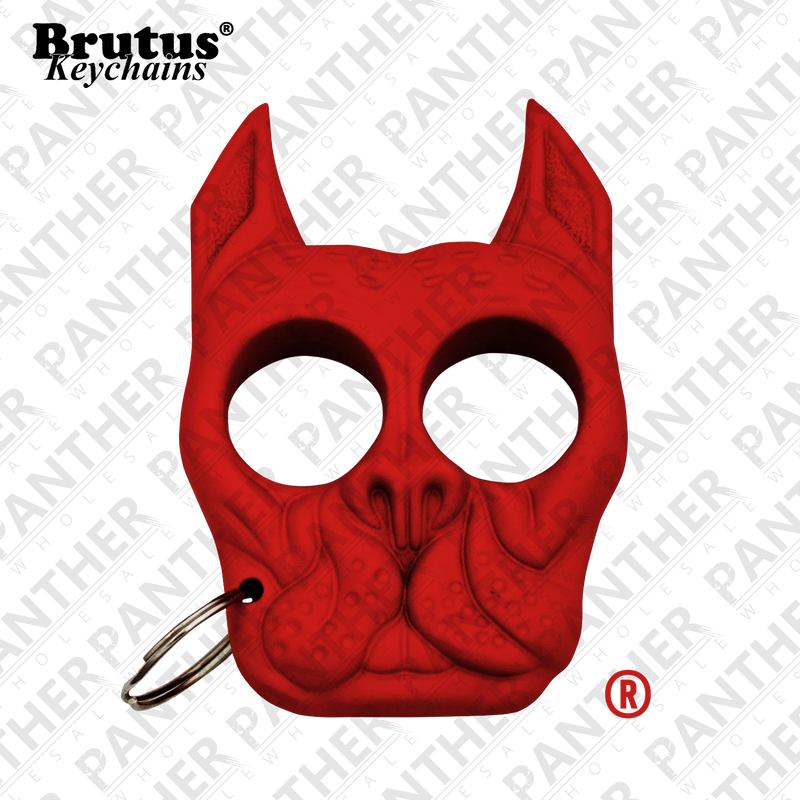 Brutus the Bull Dog - Public Safety Keychain - Salmon Red - Panther Wholesale