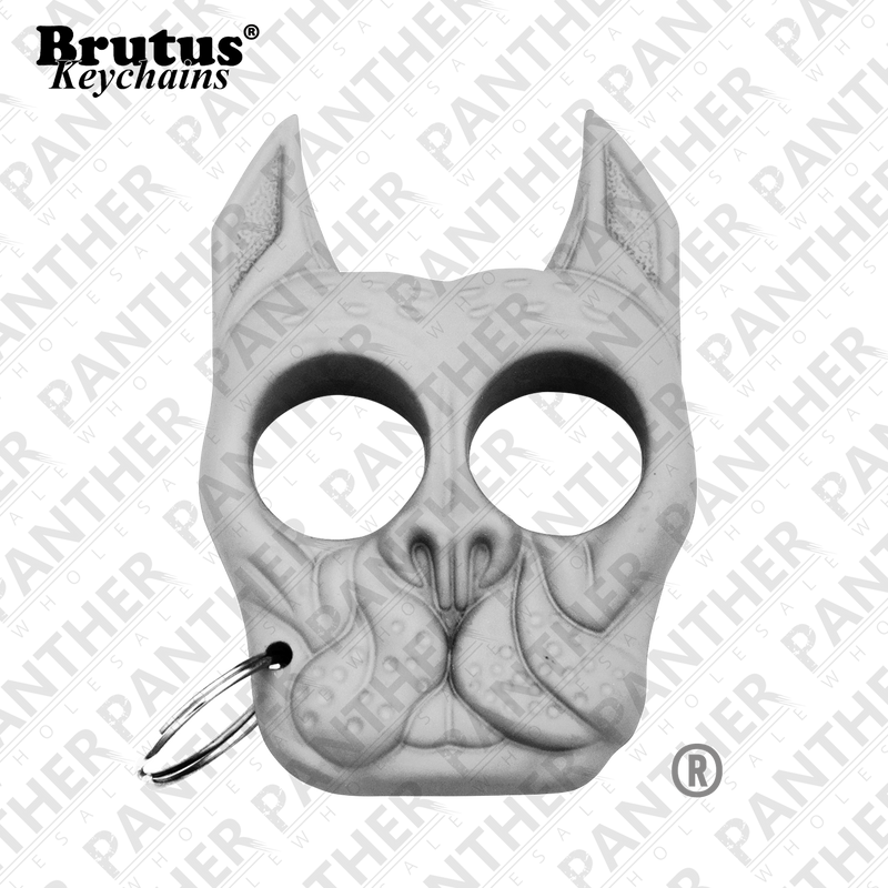 Brutus the Bull Dog - Public Safety Keychain - White - Panther Wholesale
