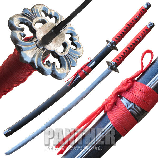 Devil Killer Katana with Stainless Steel Finish Guard, , Panther Trading Company- Panther Wholesale