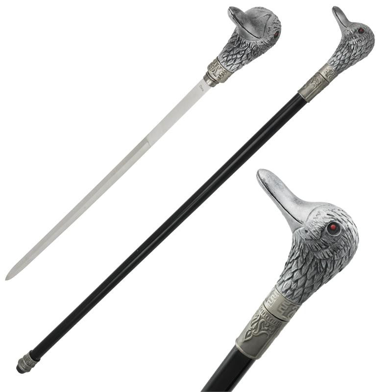 Duck Feather Bird Cane Hidden Sword