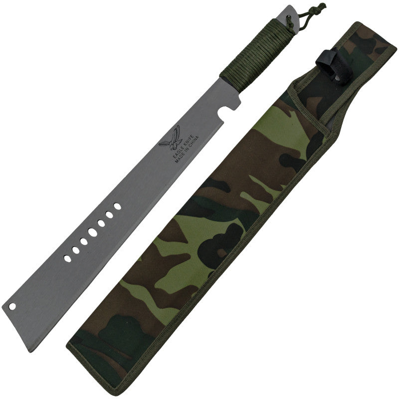 Eagle Survival Machete With Paracord and Camo Sheath