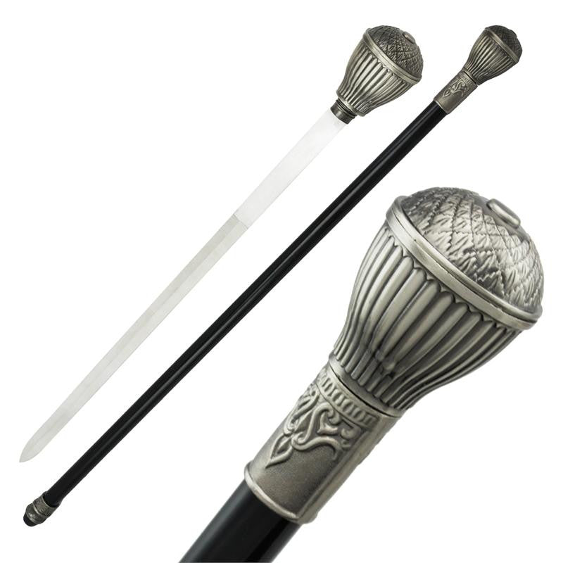 Elegant Abstract Steel Cane Hidden Sword