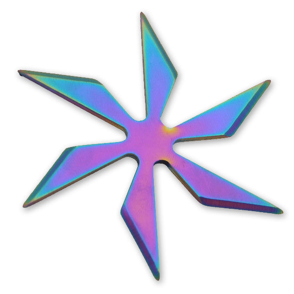 6 Blade Weighted star -Rainbow, , Panther Trading Company- Panther Wholesale
