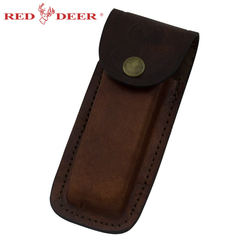 Folding Knife Genuine Leather Pouch, , Panther Trading Company- Panther Wholesale