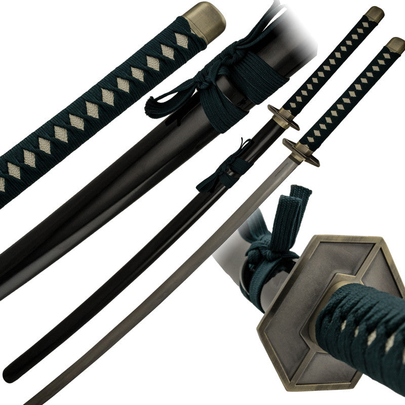 Forest Green Fabric Wrapped Katana and Scabbard, , Panther Trading Company- Panther Wholesale