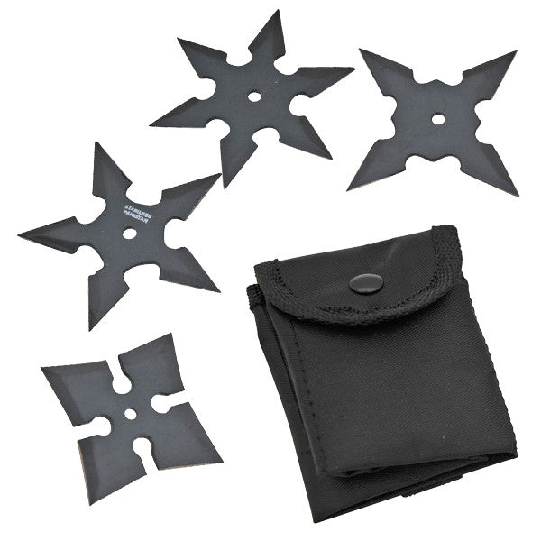 4 Piece Mini Throwing Stars Set