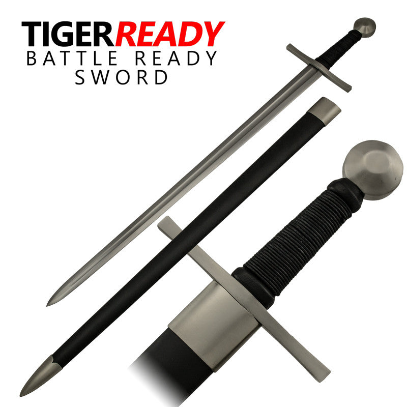 Full Tang Heat Temp Medieval Collector's Sword, , Panther Trading Company- Panther Wholesale