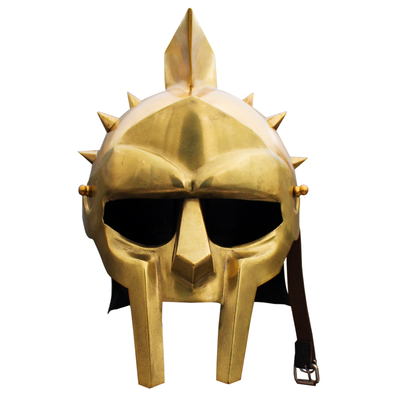 Roman Arena Spiked Gladiator Helmet (Golden Color)