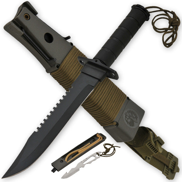 Jungle King Hunting & Survival Knife - Black, , Panther Trading Company- Panther Wholesale
