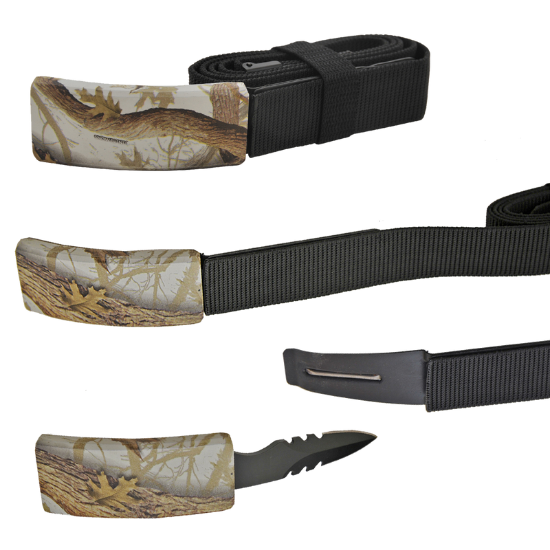 CIA Secret Agent public safety Belt Knife - Forest Camo