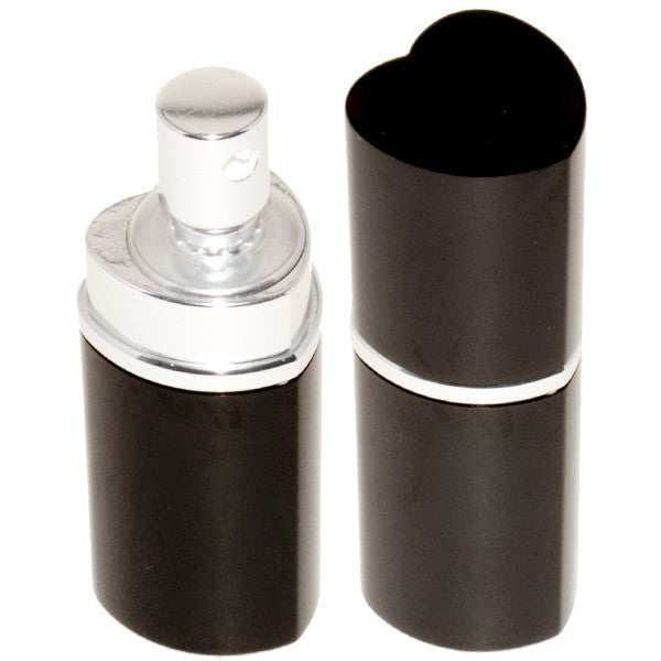 Heart Perfume Bottle Pepper Spray - Police Strength - Black