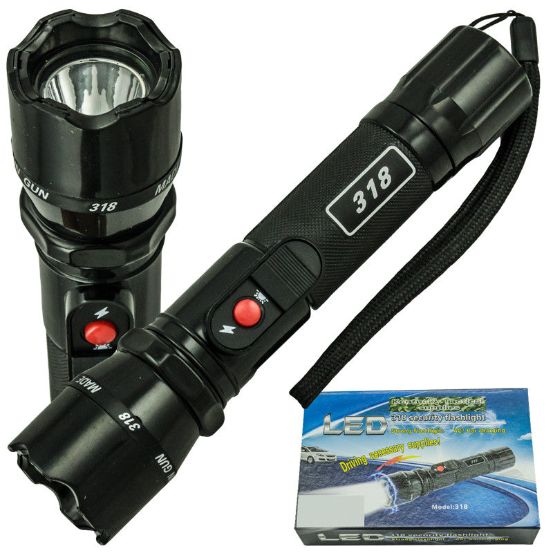 High Voltage Security Stun Gun with Flashlight, , Panther Trading Company- Panther Wholesale