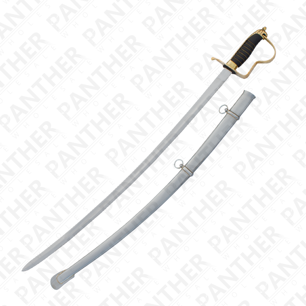 Civil War Sabre With Carbon Steel Scabbard, , Panther Trading Company- Panther Wholesale
