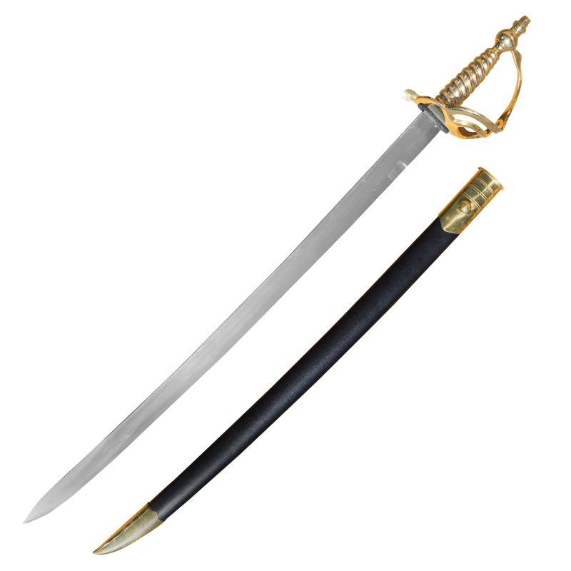 Cavalry Sword with Genuine Leather and Real Brass Scabbard