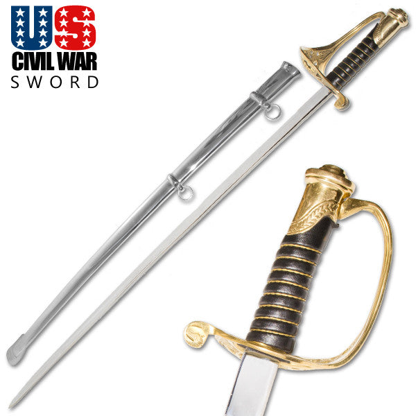 U.S. Civil War Calvary Officer's Foot Sword, , Panther Trading Company- Panther Wholesale