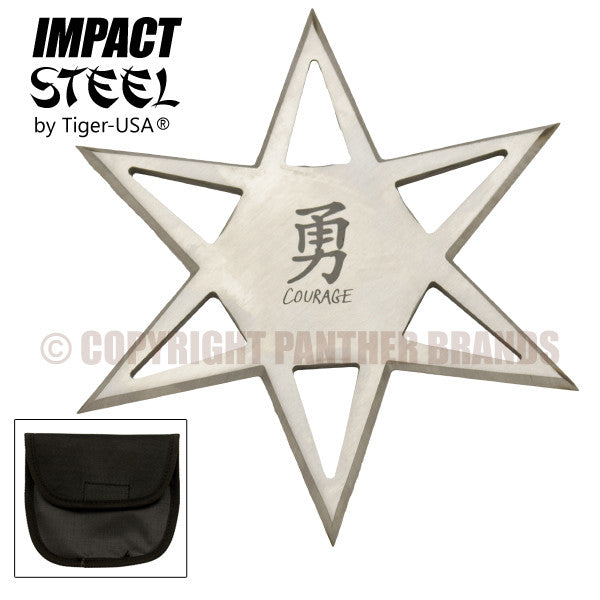 Impact Steel Silver 6-Point Star Thrower, , Panther Trading Company- Panther Wholesale