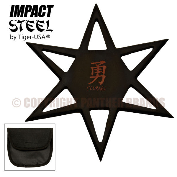 Impact Steel by Tiger-USA 6-Point Throwing Star, , Panther Trading Company- Panther Wholesale