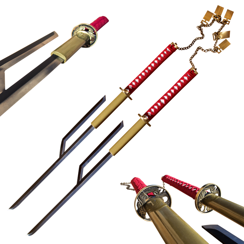 Captain Jushiro Ukitake Lightning Strike Solid Steel Swords