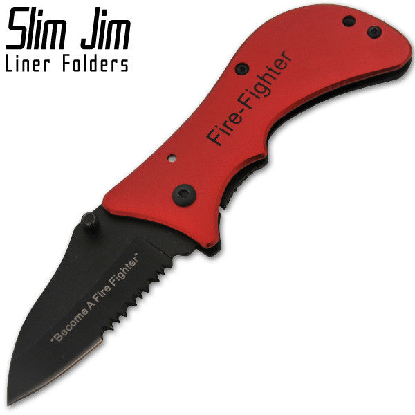 6 Inch Manual Liner Folder Knife - Fire Stopper, , Panther Trading Company- Panther Wholesale