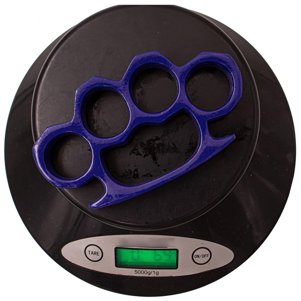 4.5 Inch Long Steel Knuckle Duster Royal Blue