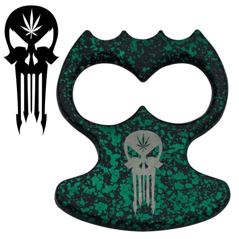 Skull Public Safety Bottle Opener - Green, , Panther Trading Company- Panther Wholesale