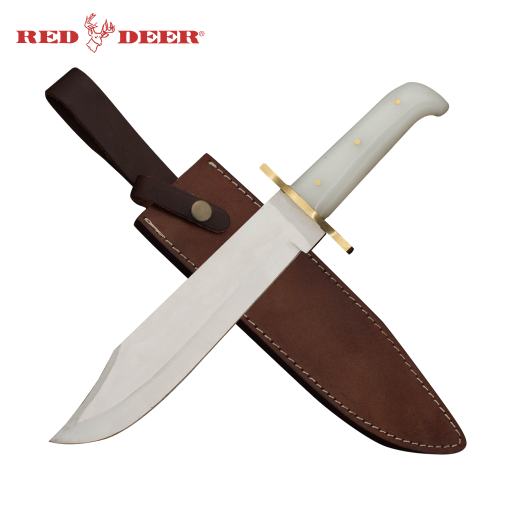 Red Deer Bowie Knife Acrylic Handle, , Panther Wholesale- Panther Wholesale