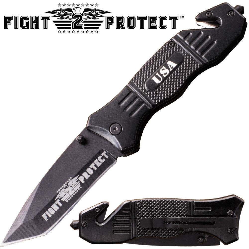 Fight 2 Protect Action Liner Lock Tanto Blade Knife