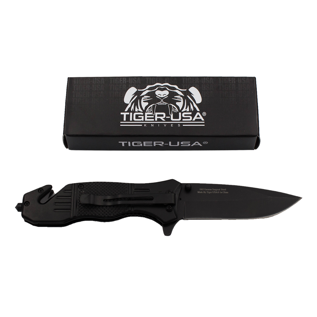 Protect Our Troops Action Liner Lock Drop Point Blade Knife, , Panther Trading Company- Panther Wholesale