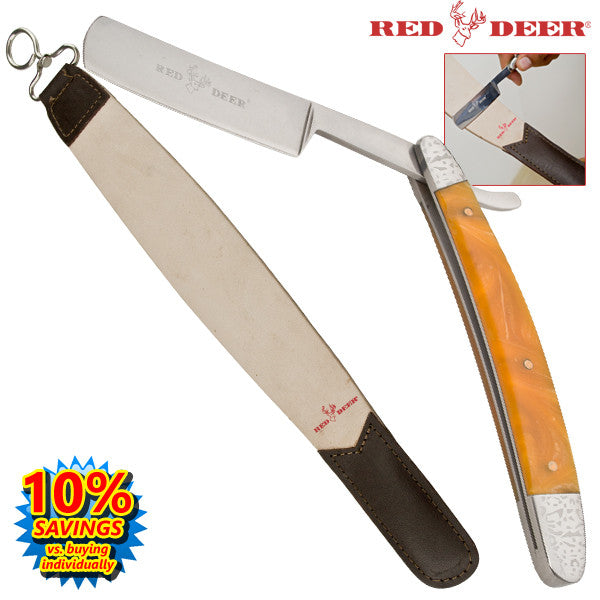 Straight Razor Leather Crop Combo, , Panther Trading Company- Panther Wholesale